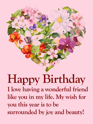 Happy Birthday Wishes To A Wonderful Friend To My Wonderful Friend Happy Birthday Card Birthday