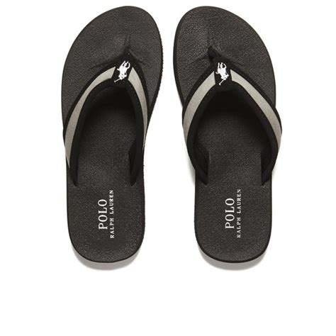 mens polo sandals polo ralph s almer ii ne flip flops in black