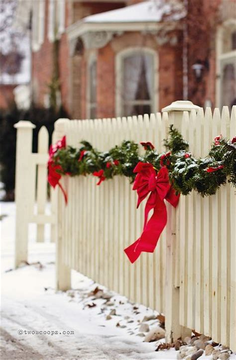 fence picket fences and christmas on pinterest