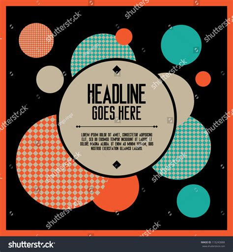 poster design layout download print vector poster design template layout stock vector