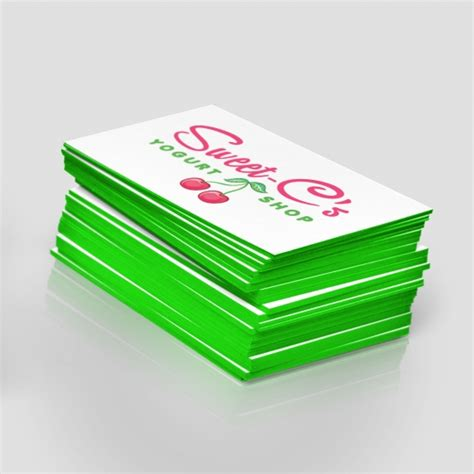 Edge Colored Business Cards Go Gwinnett Printing Edge Business Card Template
