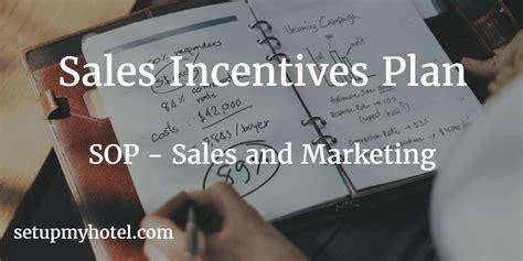 hotel sales sop sales and marketing hotel sales incentives plan