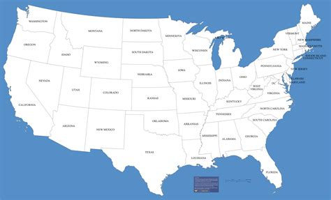 state of map map of usa free large images
