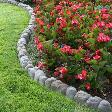 home depot flower bed edging landecor edgestone 4 in x 12 in x 3 in multi colored