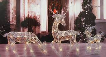 Outdoor reindeer christmas decorations with images 183 gshepador