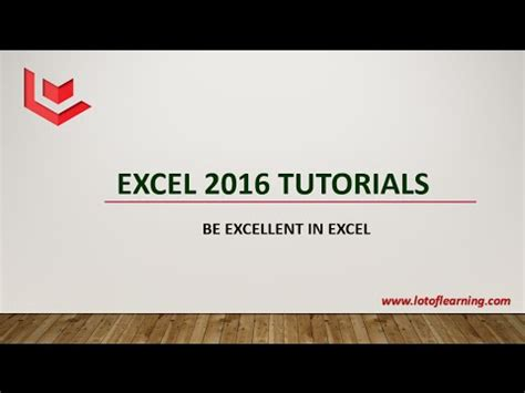wordpress tutorial in gujarati lession 1 objective of microsoft excel 2016 tutorials