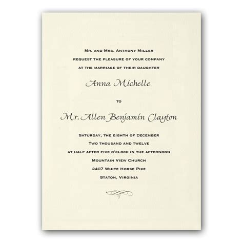 traditional ecru wedding invitations paperstyle