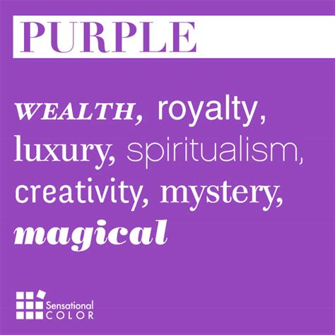 words that describe purple sensational color