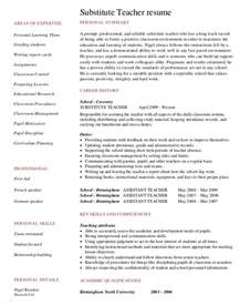 Resume Sles For Teachers With Experience Substitute Resume Exle 5 Free Word Pdf Documents Free Premium Templates