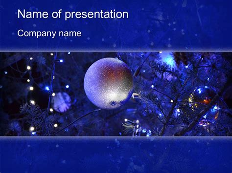 download free blue christmas powerpoint template for your