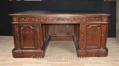 scrivania resolute mahogany presidents desk resolute partners desks ebay