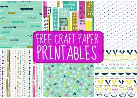Free Craft Papers - free craft paper printables paper craft