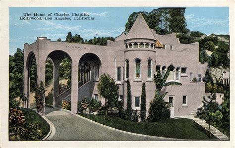 charlie chaplin house the home of charles chaplin hollywood los angeles california mailed 1932 jpg 1 052