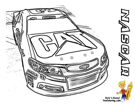 Free Nascar Coloring Pages The Sports Fan Nascar Coloring Page