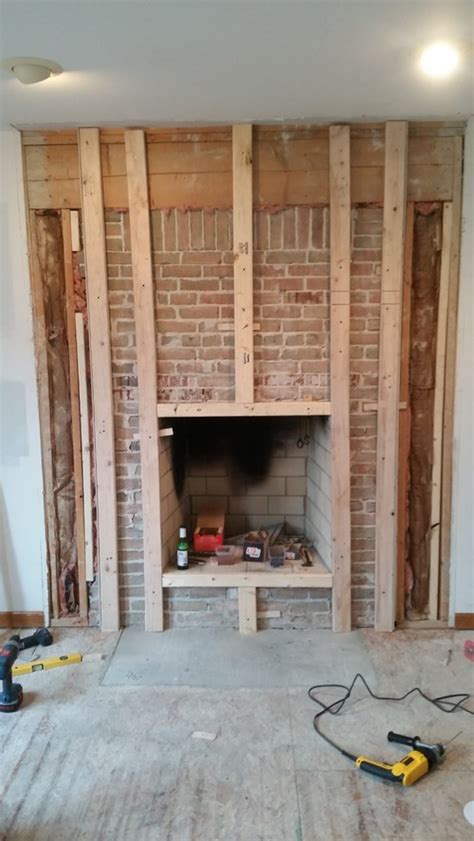 Can You Burn 2x4 In Fireplace place framing and reface