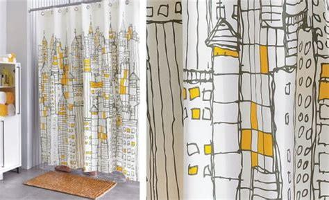 city scape shower curtain cb2 s cityscape shower curtain textile blog trends