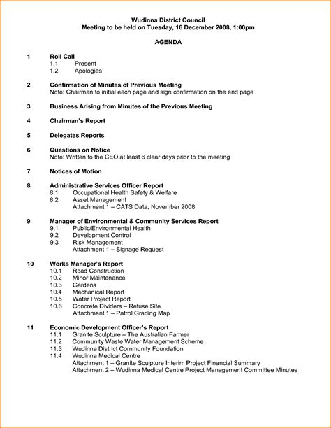 sle agenda how to write agenda for a meeting 28 images sle