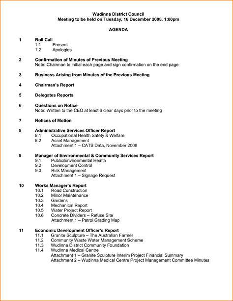 2 how to write a meeting agenda divorce document