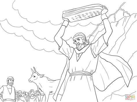free coloring page moses 10 commandments moses breaking the tablets of law coloring page free