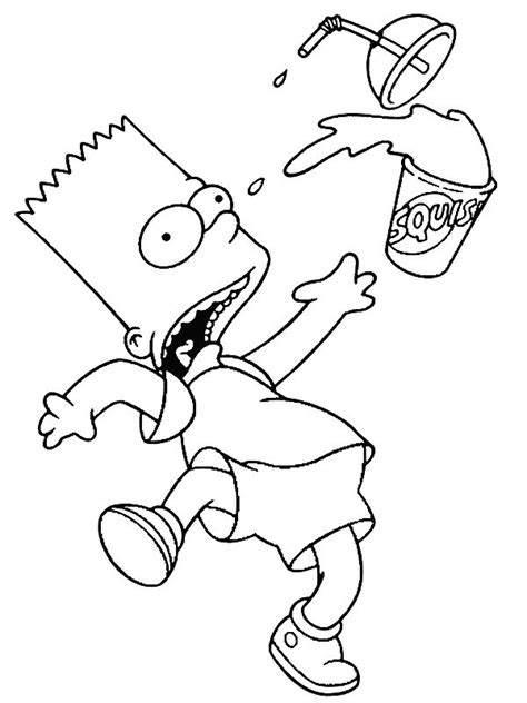 simpsons coloring page random pinterest coloring