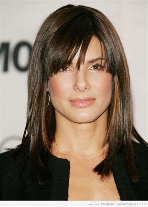 styling medium length hair with bangs for over 60 women 2014 medium haircuts 521x742 medium hairstyles