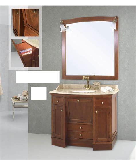 mobili bagno roma arredo bagno mobile classico roma cm 108x60 legno massello