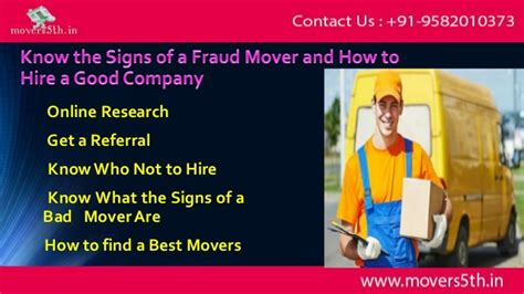 hire a mover know the signs of a fraud mover and how to hire a good company