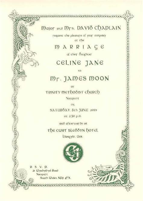 celtic wedding invitation templates free quot quot wedding invitations by stationery wedding ideas dragons