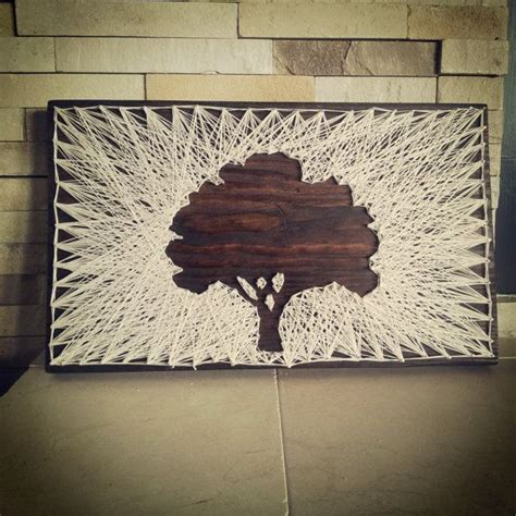 String On Wood - vintage style string made modern oak tree vintage