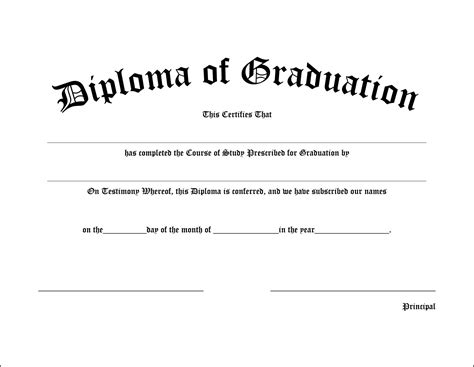 high school diploma template pdf high school graduation diploma gradshop