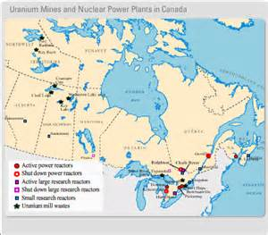 nuclear plants in canada map the canadian atlas fueling canada historical