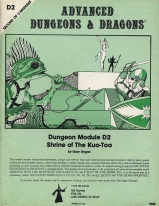 shrine of the kuo toa advanced dungeons dragons module