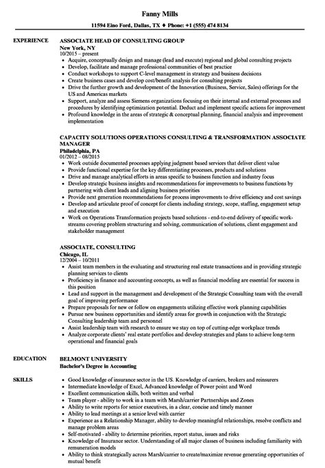 associate consultant sle resume graph paper download