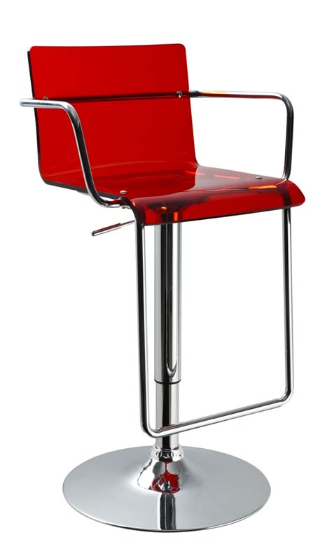 contempory bar stools t2019 acrylic red contemporary bar stool