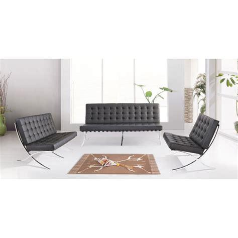 barcelona two seater sofa sofa barcelona mies van der rohe style pavillion barcelona