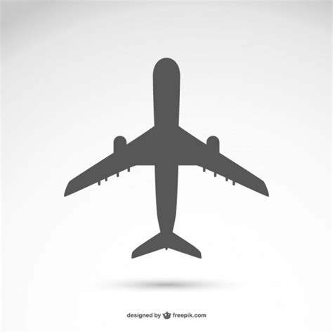 airplane silhouette vector vector free download