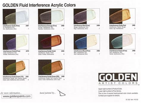 golden fluid interference acrylic colors 30 ml