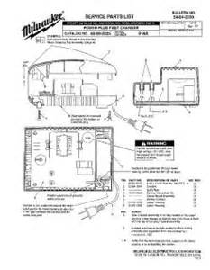 48 59 0225 milwaukee power plus fast charger parts and diagrams