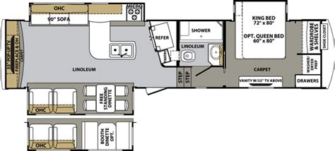 cardinal 5th wheel floor plans cardinal fifth wheel by forest river