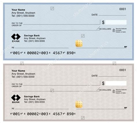 6 Blank Check Templates For Microsoft Word Website Wordpress Blog Microsoft Word Personal Check Template