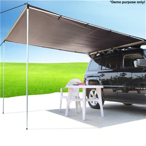 slide out awning 2 5m x 3m grey pull out car awning crazy sales