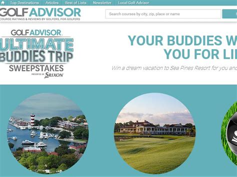 Golf Trip Sweepstakes - srixon golf advisor ultimate buddies trip sweepstakes
