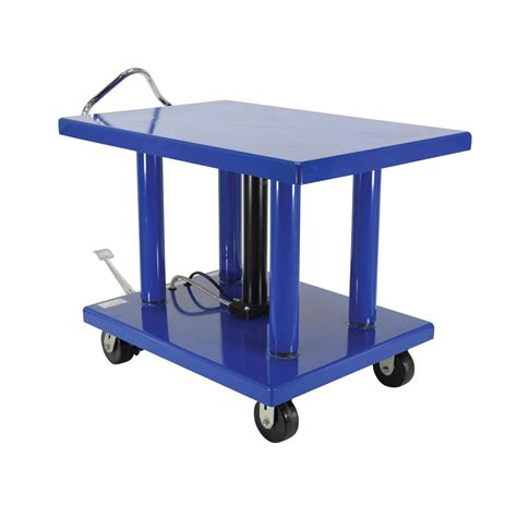 vestil 32 in x 48 in 6 000 lb hydraulic post table ht