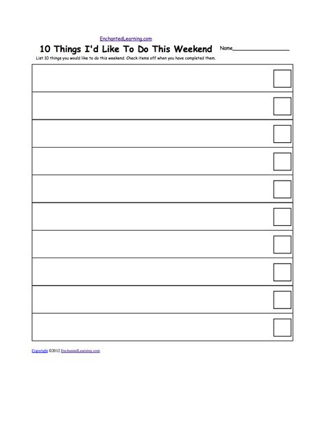 Blank Checklist Template Pdf 5 best images of free check list printable to do