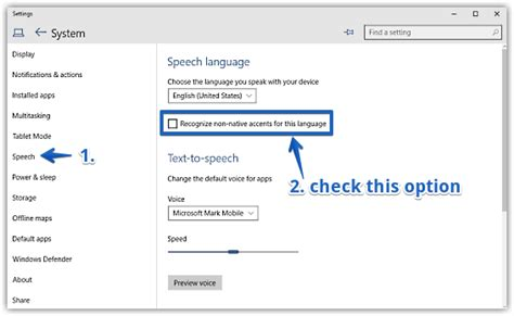 windows 10 speech tutorial improve speech recognition with non native accents in