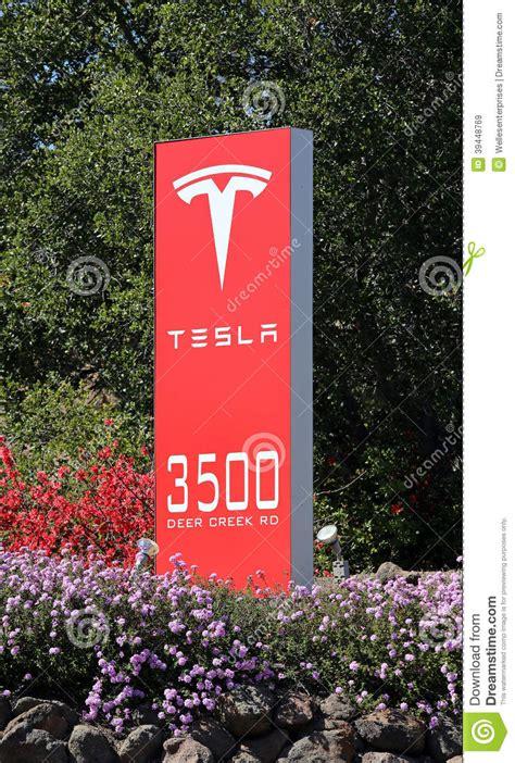 Tesla Palo Alto Headquarters Tesla Motors World Headquarters Editorial Stock Image