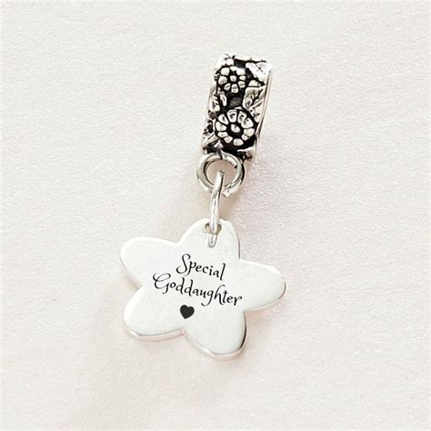 Pandora Charm Sterling Silver P 473 special cousin goddaughter charm sterling silver fits pandora charming engraving