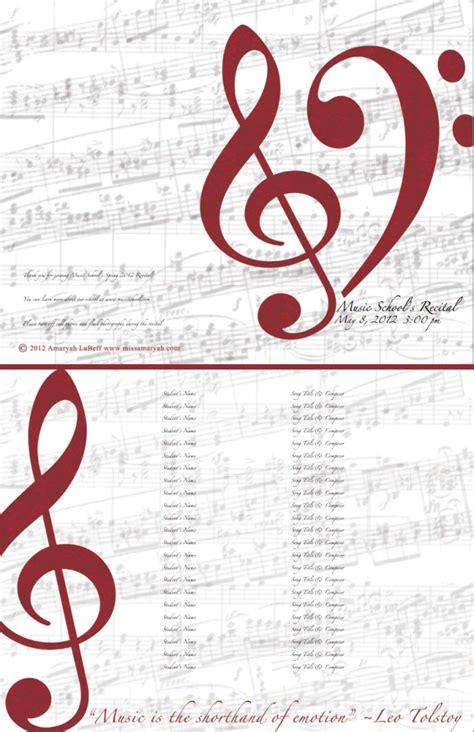 recital program template free customizable templates calendar template 2016