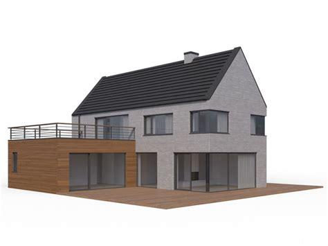 house home 3d obj modern family house 3d model max obj fbx dwg mtl