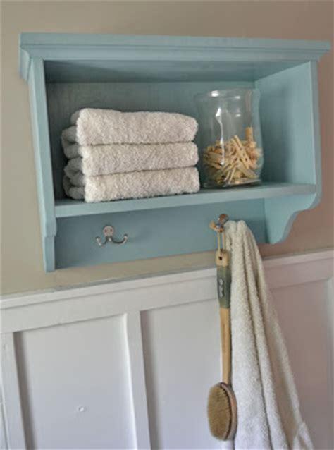 white bathroom shelf with hooks ana white martina bath wall storage shelf with hooks diy projects